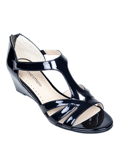 ADRIENNE VITTADINI Corette Patent Leather Wedge Sandals