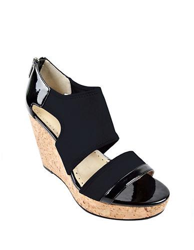 Adrienne Vittadini Chelle Cork Wedge Sandals