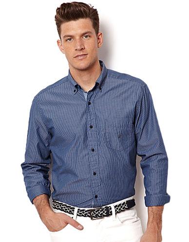 NAUTICAAnchor Stripe Poplin Sport Shirt