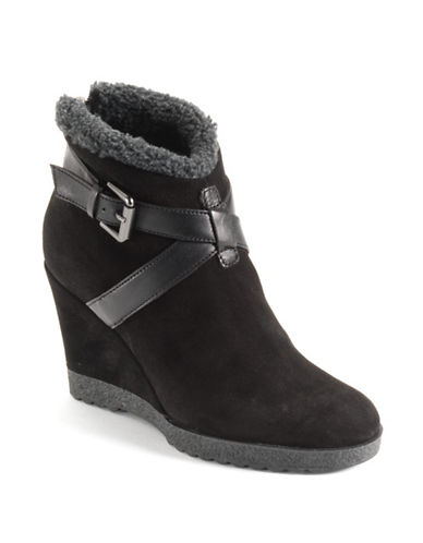 AQUATALIA Suede Wedge Boots