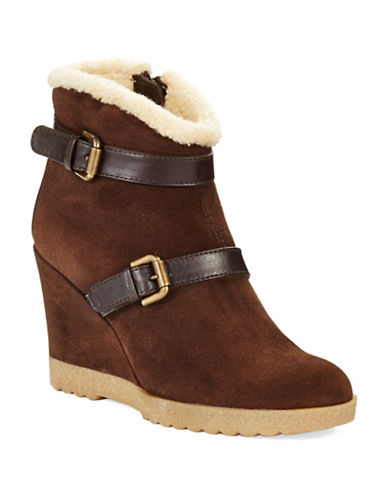 AQUATALIACooler Faux- Fur Lined Wedge Ankle Boots