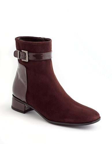 AQUATALIA Luanna Suede & Patent Leather Ankle Boots