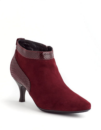 AQUATALIAMax Suede and Snakeskin Leather Ankle Boots