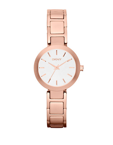 DKNY Ladies Rose Gold-Tone Watch