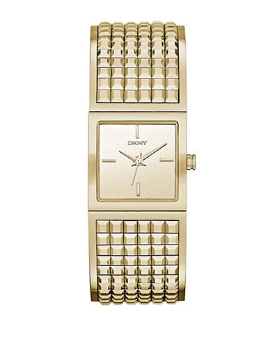 DKNY Ladies Bryant Park Gold Tone Watch