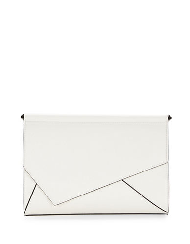 kendall kylie female ginza leather clutch