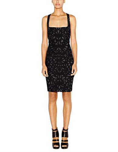 NICOLE MILLERMetallic Geo Print Sheath Dress