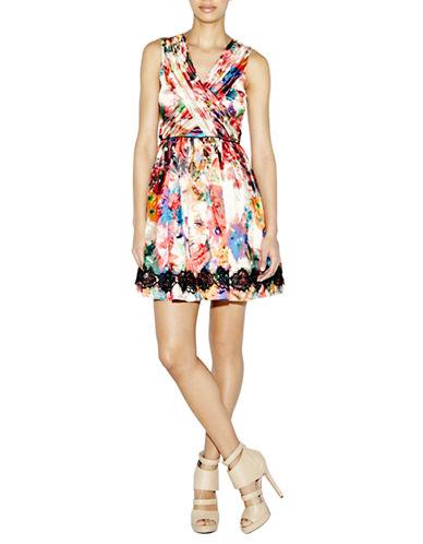 NICOLE MILLERFaint Floral Metallic Dress