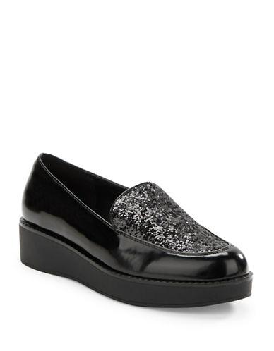 DESIGN LAB LORD & TAYLOR Ediraven Embellished Faux Leather Loafers
