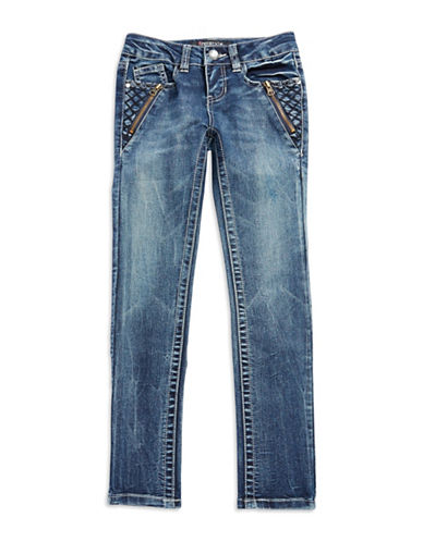 FREESTYLE REVOLUTIONGirls 7-16 Quilt Accented Skinny Jeans
