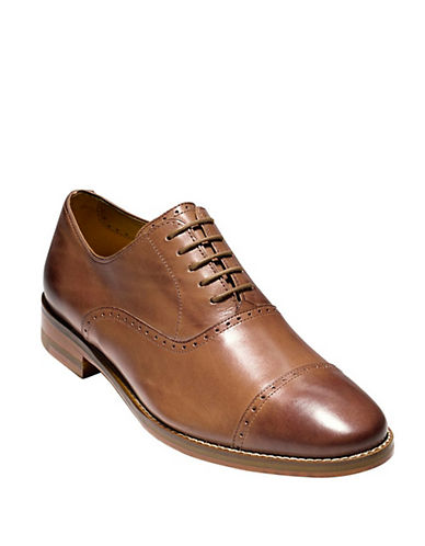 COLE HAAN Cambridge Leather Cap Toe Oxfords