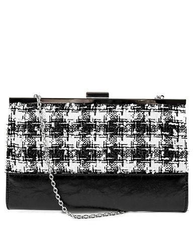 JESSICA MCCLINTOCKTweed Flap Shoulder Bag