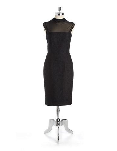 VERA WANGIllusion Lace Sheath Dress