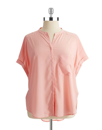 Dknyc Plus Plus Dolman Sleeved Blouse