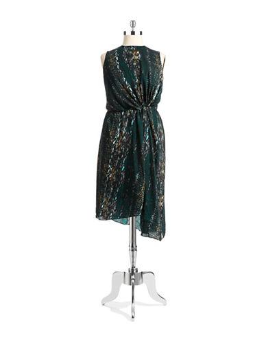 Shop Dknyc Plus online and buy Dknyc Plus Plus Snakeskin Print Knot Dress dress online
