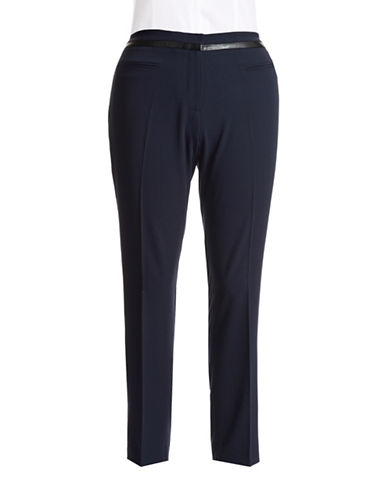 Dknyc Plus Plus Faux Leather Accented Dress Pants