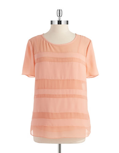 Dknyc Plus Plus Sheer Striped Top