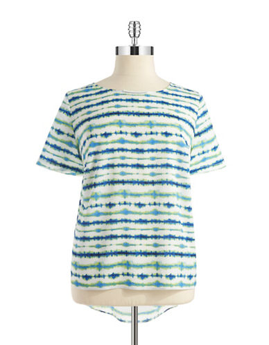 Dknyc Plus Plus Hi-Lo Printed Top