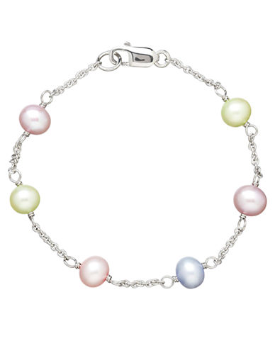 HONORA STYLE Sterling Silver Multi Freshwater Pearl Baby Bracelet