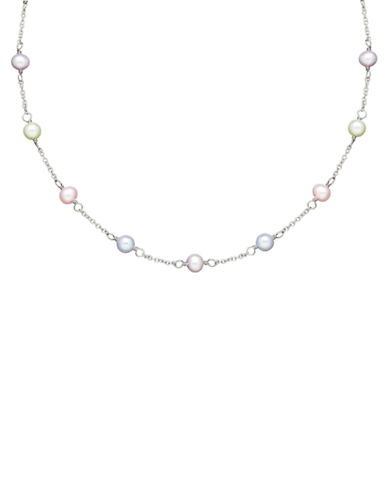 HONORA STYLE 5.5MM 6MM Sterling Silver Multi Freshwater Pearl Baby Necklace