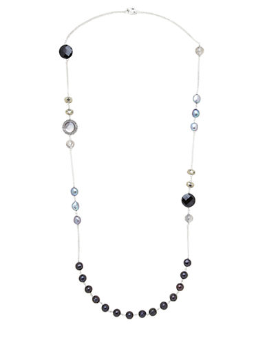 Honora Style Sterling Silver and Multi Freshwater Pearl Necklace
