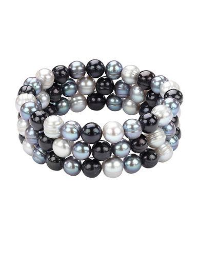 HONORA STYLEMulti-Tone Pearl Bracelet Set - 3