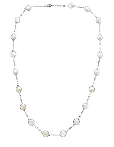 HONORA STYLE Sterling Silver Freshwater Pearl Coin Necklace