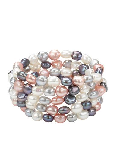 HONORA STYLEMulti-Tone Pearl Bracelet Set - 5