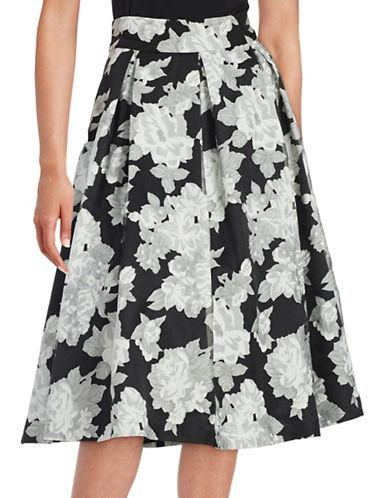 eliza j female 234365 floral crepe midi skirt