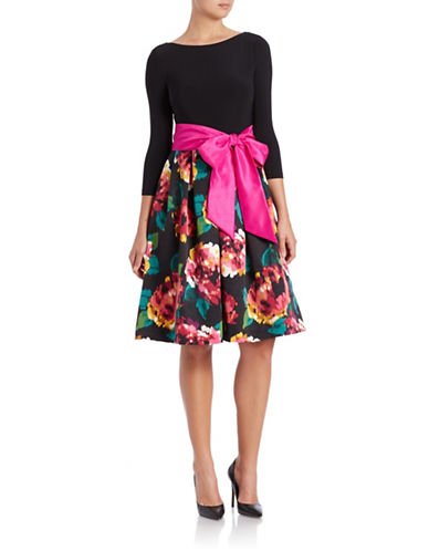 ELIZA JPlus Bow-Detail Fit-and-Flare Dress