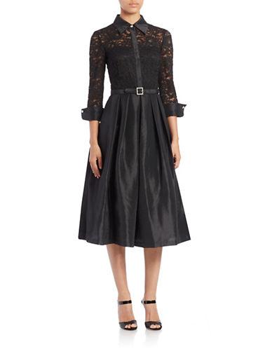 Lace Tea-Length Dress $183.20 AT vintagedancer.com