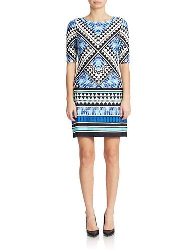 Shop Eliza J online and buy Eliza J Geo Print Shift Dress dress online