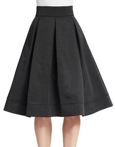 ELIZA JPleated Faille Midi Skirt