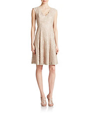 lace fit and flare dress lord taylor
