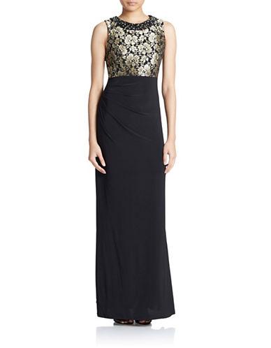 ELIZA JEmpire Waist Evening Gown