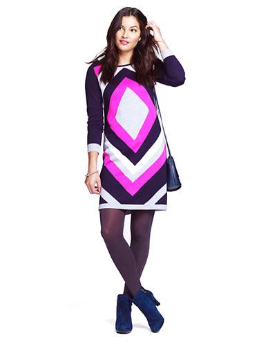 ELIZA JDiamond Patterned Sweater Dress