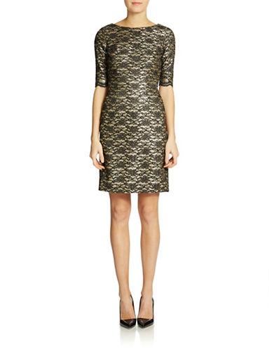 ELIZA JShimmering Lace Dress