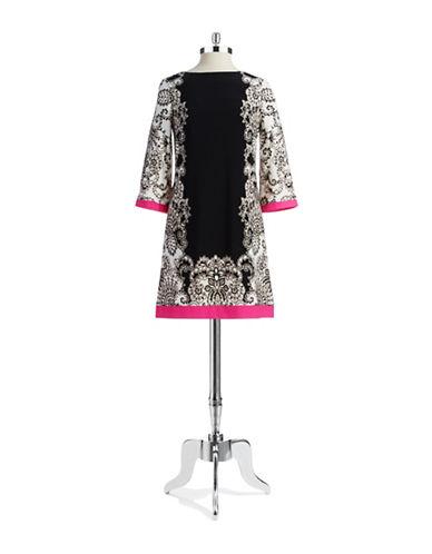 ELIZA JPatterned Shift Dress