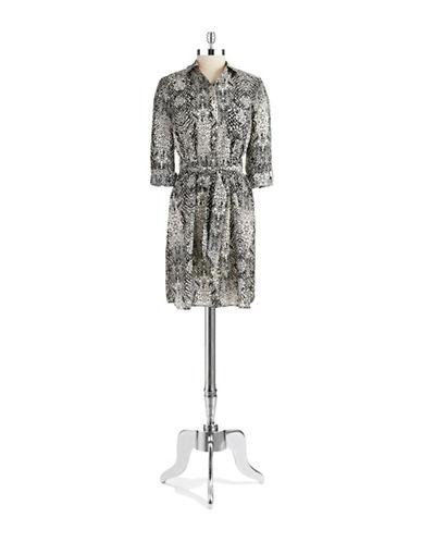 ELIZA JAnimal Print Shirt Dress