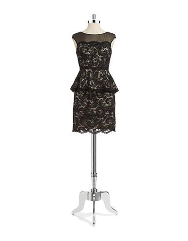 ELIZA JPeplum Lace Dress