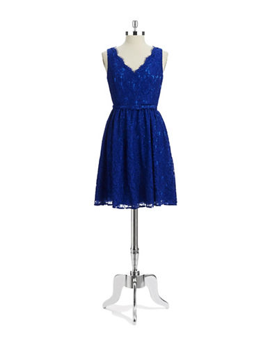 ELIZA JLace Fit and Flare Dress