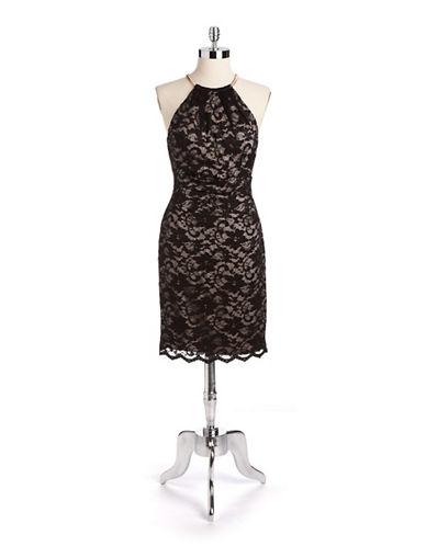 ELIZA JHalter Lace Sheath Dress