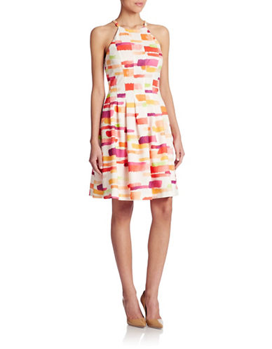 Shop Vince Camuto online and buy Vince Camuto Fit-and-Flare Print Dress dress online