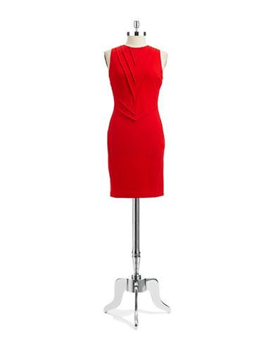 VINCE CAMUTOSleeveless Sheath Dress With Pleats
