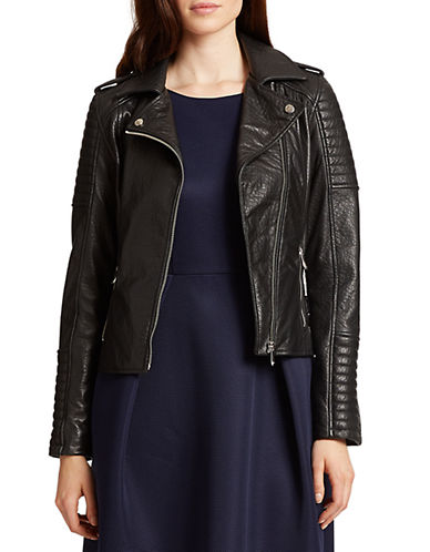 424 FIFTH Embossed Leather Moto Jacket