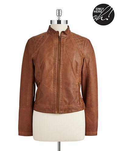 LORD & TAYLORFaux Leather Bomber Jacket