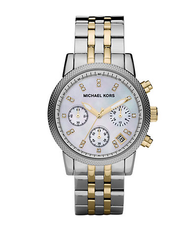 MICHAEL KORS Ladies Two-Tone Stainless Steel Chronograph Watch