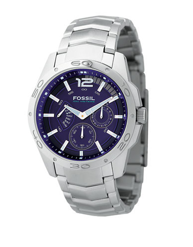 FOSSILMens Stainless Steel Chronograph Watch