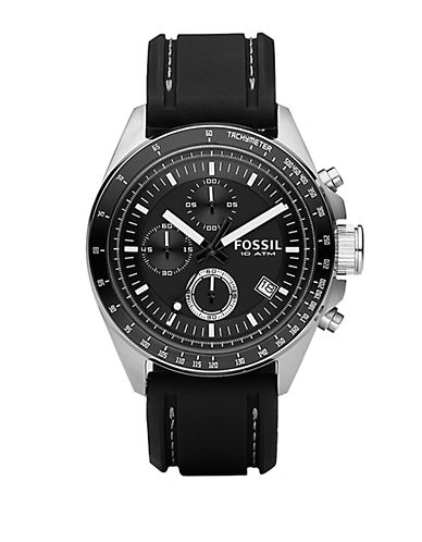 FOSSIL Mens Black Chronograph Watch