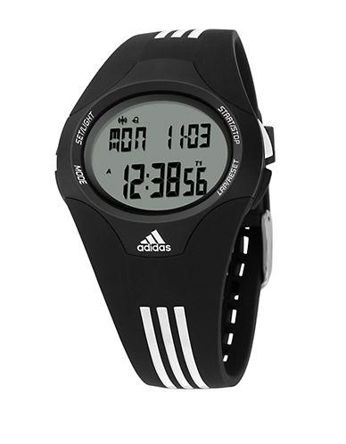 ADIDASMens Uraha Black and White Digital Watch